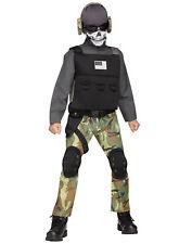Kids Skull Soldier Halloween Costume L