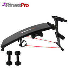 Sit up Bench Press Abdominal AB Machine Gym Weight Dumbbell Workout Fitness Pro