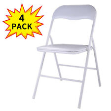 4/5/6 PCS Commercial Wedding Quality  Stack-able Plastic Folding Chairs White