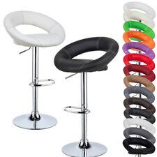 1pcs Faux Leather Bar Stools Bar Breakfast Kitchen Stools Swivel Chair u032