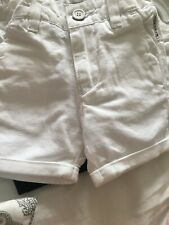 Baby Age 3 Months Armani White Denim Shorts Worn Once RRP £89