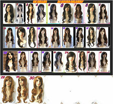 Women's and Ladies Long wavy curly brown/ light brown/  gold  wigs