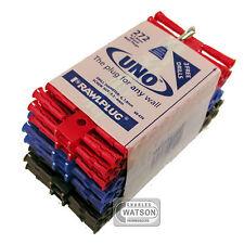 Taquetes Uno Rojo Azul Marrón Pack Comercio 272 UNIVERSAL PARED TACOS 68-636