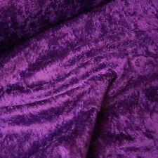 Purple Crushed Velvet Velour Fabric - Gothic - Bridal - Christmas (Per Metre)