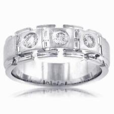 1.50 Ct. TW Men's Round and Baguette Diamond Wedding Band in Platinum