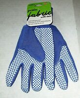 LADIES FABRIC GLOVES with Dots  by Mid West Glove Co.  Ladies   BLUE