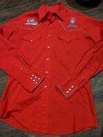 Vintage Embroided Western Cowboy Shirt