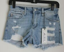 Just USA Light Wash Distressed Denim Shorts Never Ending Summer Mid rise NEW