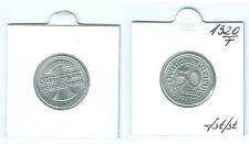 Weimarer Republik  50 Pfennig 1920 F  fast stempelglanz bis stempelglanz