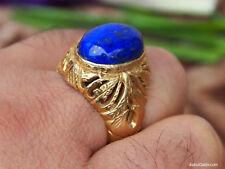 orient Massive silber Vergoldet Ring Lapis Lazuli Afghanistan gold-plated no.443
