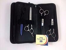 Pro Hair Cutting Scissors Shears Barber Thinning 5.5 6.0 Feather Razor Set