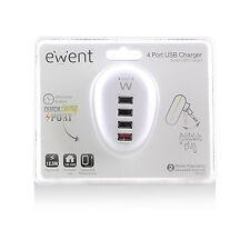 Alimentatore/Caricabatterie USB 4 porte portatile 2.5A Ewent EW1217
