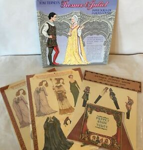 Tierney ROMEO & JULIET Paper Dolls, SHAKESPEARE CHARACTERS & PUNCH & JUDY Show