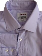 TM LEWIN 100 Shirt Mens 15.5 M Lilac SLIM FIT
