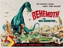 The Giant Behemoth Alternate Version Movie  Poster 1959 1950/'s Sci-Fi