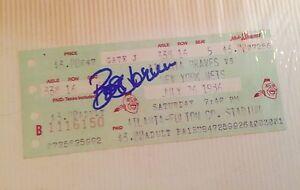 Bob Horner Signed Autographed 1986 Ticket Stub Atlanta Braves versus Mets