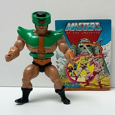 Vintage Original 1982 He-Man MOTU Tri-Klops Action Figure with Mini Comic