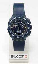 Orologio Swatch SUIN402 blue hero chrono watch swiss clock 2011 diver 3 bar