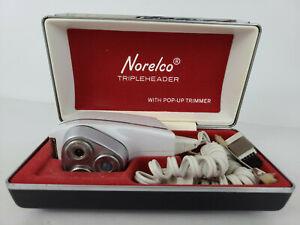 Vintage NORELCO Triple Header Electric Razor Pop Up Trimmer SC 8130