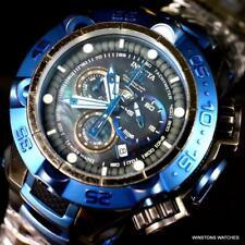 Invicta Subaqua Noma V Distressed Swiss Made Black MOP 50mm Blue Watch New