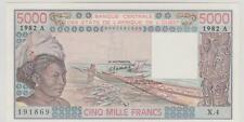 BANQUE CENTRALE DES ETATS DE L'AFRIQUE DE L'OUEST 5000 F 82 LETTRE A SING 15 SPL