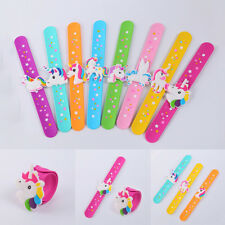 Unicorn Horse Wristband Slap Snap Flexible Silicone Bracelet Hand Ring Kids Toy