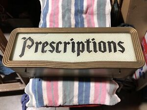 Vintage Lighted Pharmacy Motion Sign ((revolves & turns many colors)