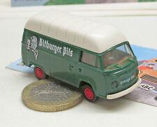 "Brekina:   VW  T2, Kasten, Hochdach   Sondermodell  ""Bitburger Pils"""