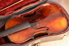 Beau violon Allemand ancien + 2 archets - fine old violin + 2 bows.