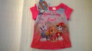 Paw Patrol / T - Shirt / Girls / Sizes 2 And 4.