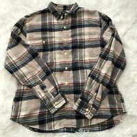 J Crew Mercantile Mens Size Large Plaid Flannel Button Down Long Sleeve Shirt