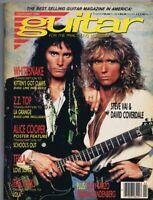 ORIGINAL Vintage February 1990 Guitar Magazine Steve Vai David Coverdale