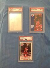 michael jordan lot of (3) cards 90-91 fleer,91U.D. hologram ,graded