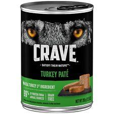 Crave Turkey Paté Dog Food 12.5 oz Can