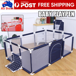 12 Panels Baby Playpen Child Play Mat Interactive Safety Gate Slide Fence Game
