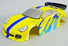 1/10 RC Car BODY Shell PORSCHE TURBO GT3 200mm Fits HPI *PRE- FINISHED* yellow