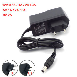 AC DC5V 12V 9v 24V 1A 2A 3A 0.5A Power Supply Adapter US EU Plug LED Strip light
