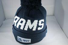 New Era Onfield NFL19 Sports Knit Los Angeles Rams Bobble Ski Hat -Navy  (BNWT)