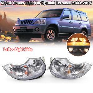 For 2001-2006 Hyundai Terracan 2× Front Fog Light Signal Corner Lamps Left+Right