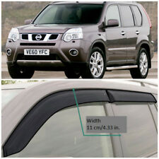 NE11807 Window Visors Vent Wide Deflectors For Nissan X-Trail T31 2007-2015
