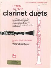 Learn To Play Clarinet Duets 1 Elementary Intermediate 1975 Eisenhauer Graded