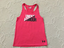 Womens Under Armour Heat Gear Corral Red Ribbed Stretch Racerback Tank Size: YLG
