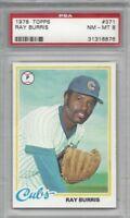 1978 Topps baseball card #371 Ray Burris, Chicago Cubs graded PSA 8