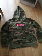 Supreme m  new York City box logo camo hoodie Canadian100% cotton authentic