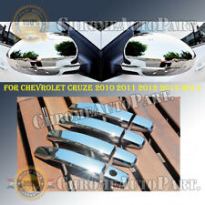 Chrome Mirror Covers+Door Handle Covers for Chevy Cruze 2010-2012 2013 2014 2015