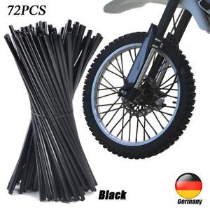 72x Fahrrad Motorrad Speichen Cover Tube Überzug Wheel Spoke Rim Wraps Skins DE