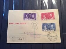 Grenada First Day Cover 1937 Coronation Fine used