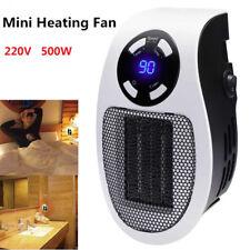 500W Heater Warmer Portable Plug-in Electric Wall-outlet Space Mini Heating Fan