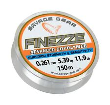 SAVAGE GEAR FINEZZE ADVANCED COPOLYMER 150M 11.9LBS MONO LINE BOAT BEACH FISHING