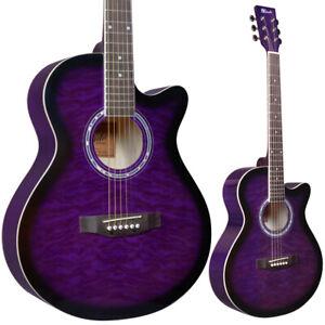 B-STOCK Lindo Standard Amethyst Purple Acoustic Guitar Gigbag Tuner 10%OFF
